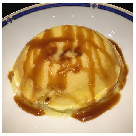 Bowlcake semoule poire/caramel beurre salé