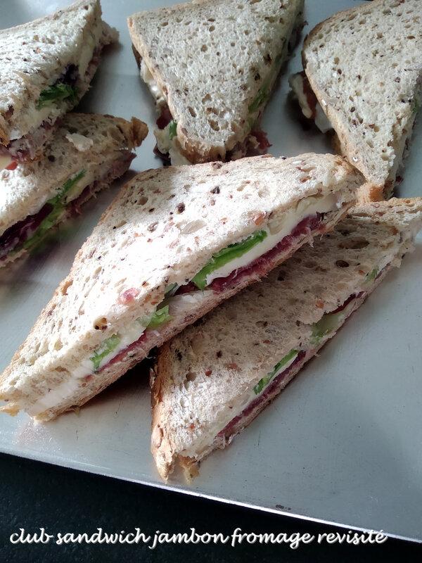 club sandwich jambon fromage revisité2