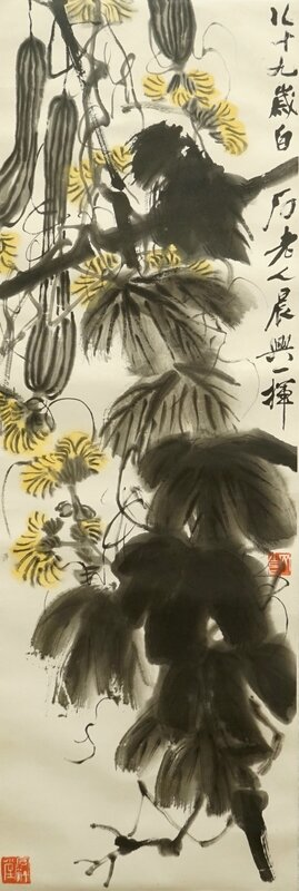 qi-baishi-1864-1957-long-melons-and-their-vines-ink-and-colour-on-paper-1