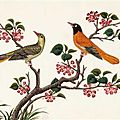 A set of six well preserved mid nineteenth century gouache paintings of birds, circa 1850