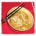 Bouillon de udon aux légumes