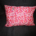 Coussin mitsy rouge