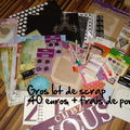 Scrap - gros lot papiers-stylo-oeillets-album