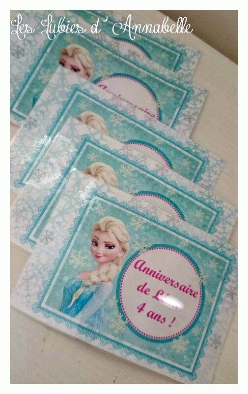 invitations reine des Neiges