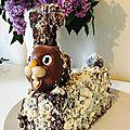 Cake lapin au chocolat meringue