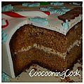 Gâteau choco - pâte de noisettes en habit de noël