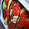 Gratin: tian de légumes