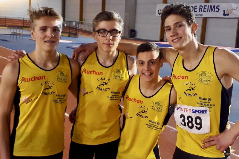 CSCVH CHAMPIONNAT AISNE REIMS 2019 relais 4x200 m
