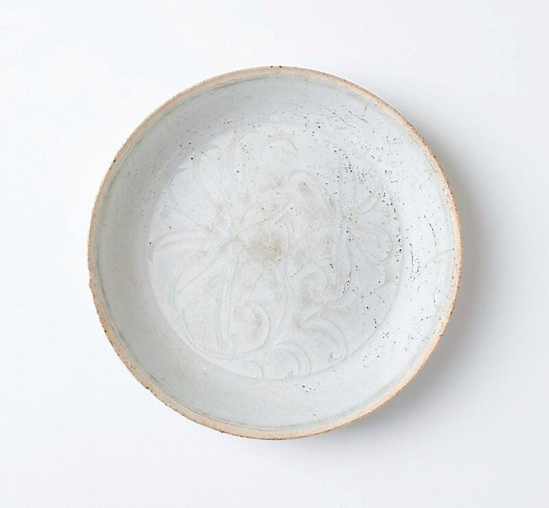 Shallow bowl, Qingbai ware, Yingqing ware, China, Song dynasty (960 - 1279), Jingdezhen ware, Jiangxi Province, porcelain with 'qingbai' (bluish-white) glaze, 3.4 x 14.8 cm. Bequest of Eleanor Hinder through her executors 1975. 274.1975. Art Gallery of Ne