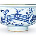 A blue and white 'ladies' bowl, ming dynasty (1368-1644)