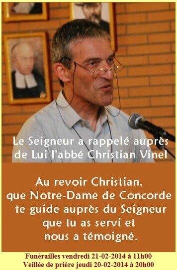 Annonce Christian Vinel