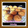Muffin's chocolat blanc/pralines roses