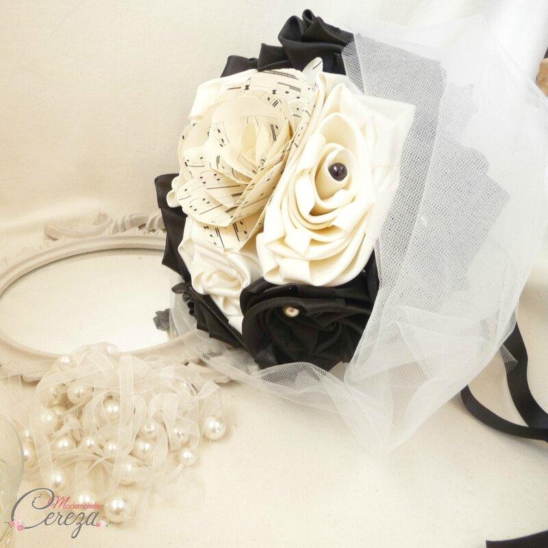 bouquet-mariage-theme-musique-noir-ivoire-partition-mademoiselle-cereza-12G