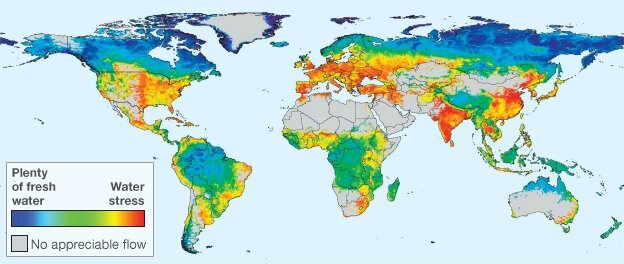 Amount of fresh water in the world