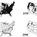 "Map of ""Virgin Forest"" in the USA through the years"
