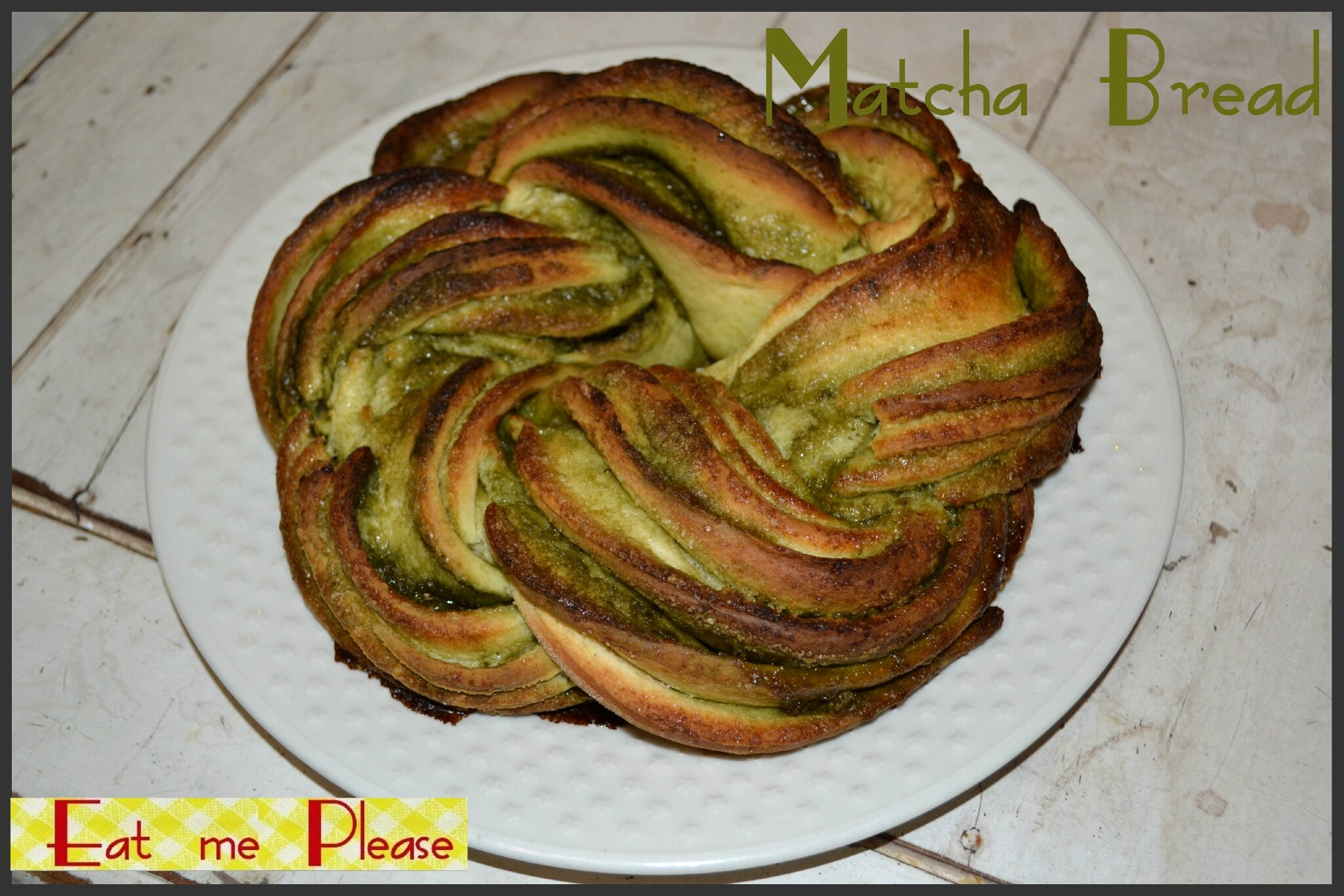 Twisted Matcha Bread