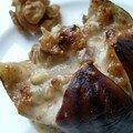 Figues gratinées bleu et noix