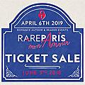 Acheter un billet pour la rare paris 2019