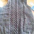Nous sommes jeudi j'avais tricoté plus de 15 cm