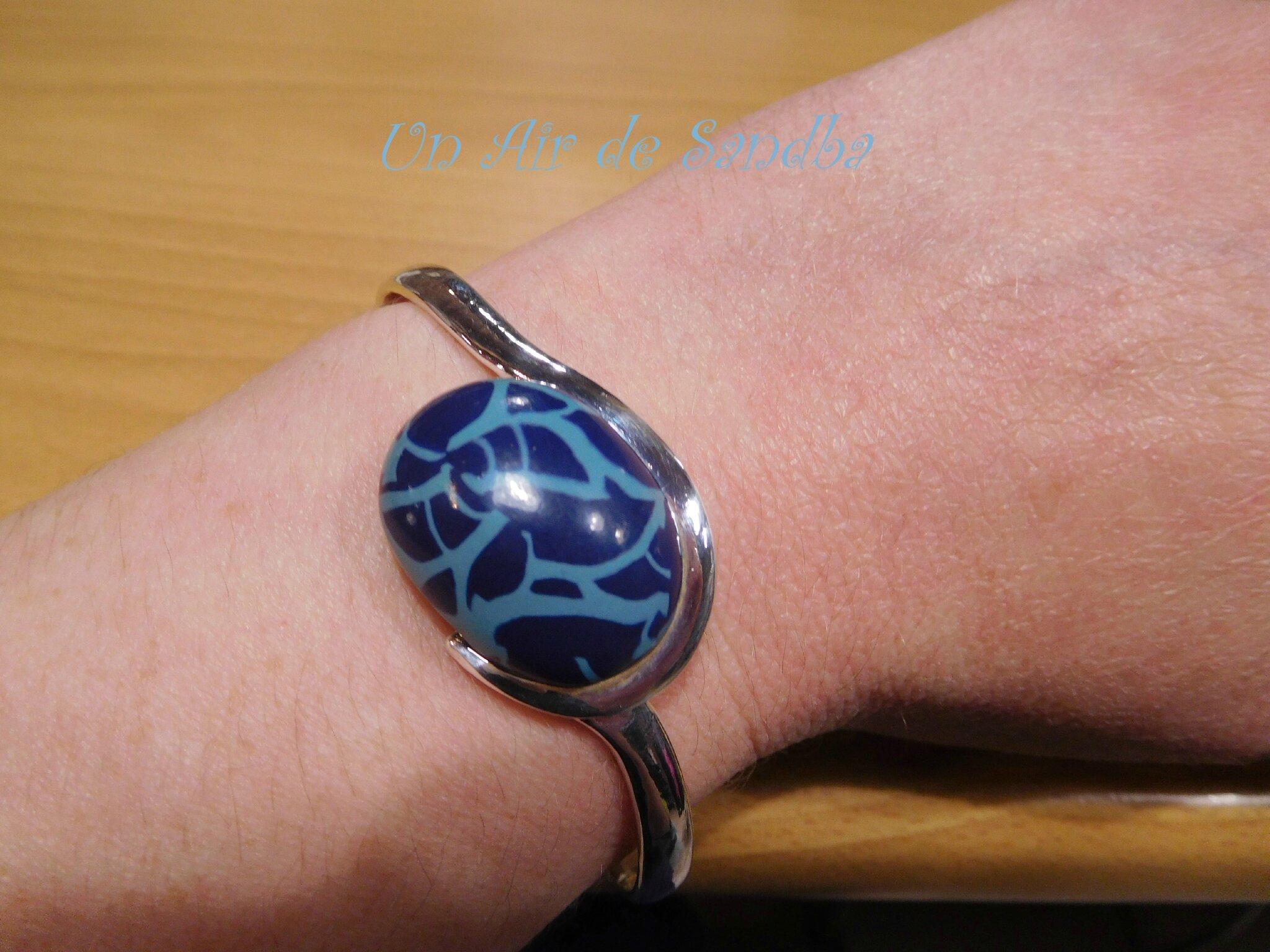 Bracelet Craquelé bleu (5)