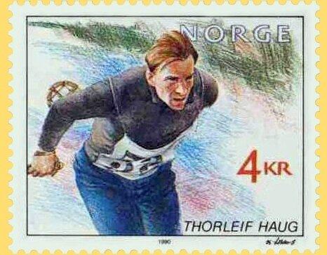Timbre Norvège Thorleif Haug