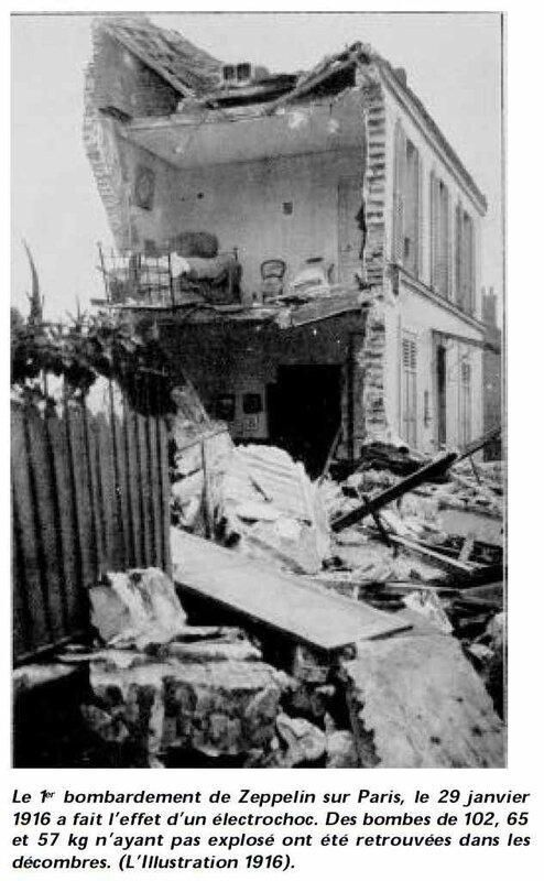 Bombardement Paris 1916