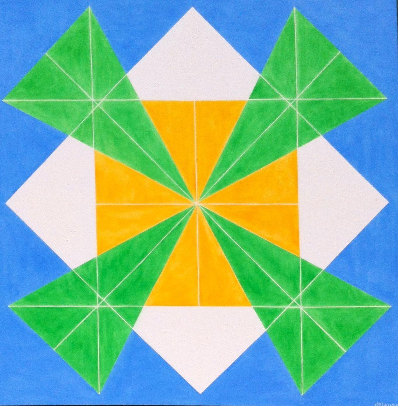 """Art du futur """"LE VENT"""" huile/toile 150X150 ----> une circulation atmosphérique"""