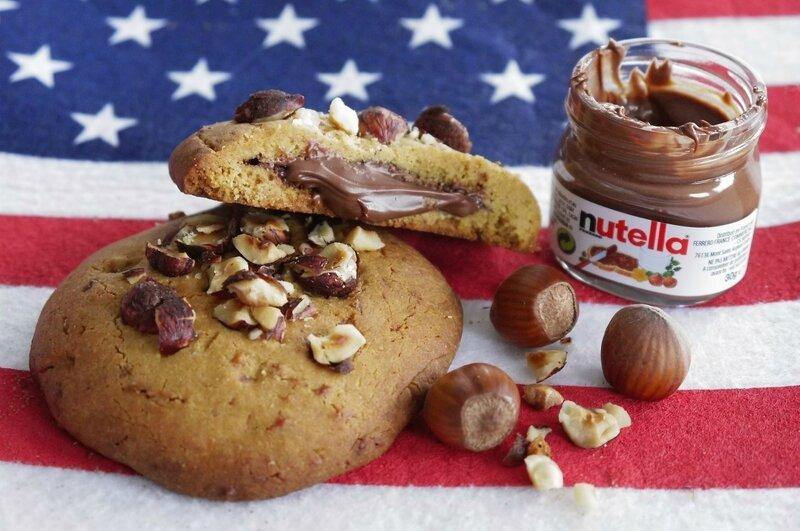 cookies coeur nutella Les Recettes de l'Alsacienne