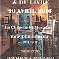 Salon de l'art et du livre le 10 avril 2016 // la chapelle saint-mesmin (45)