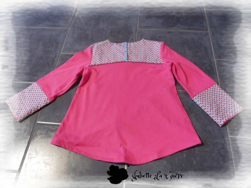 Gourmande legging guêtres rose bleu jean6