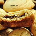 Cookies au parfum de mandarine rouge fourrés au nutella