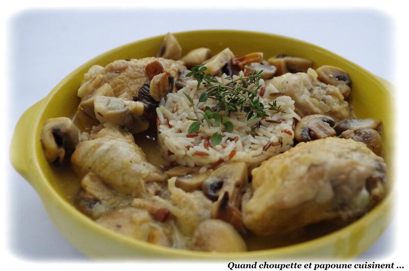 cassolette de poulet à la crème et aux champignons-0410