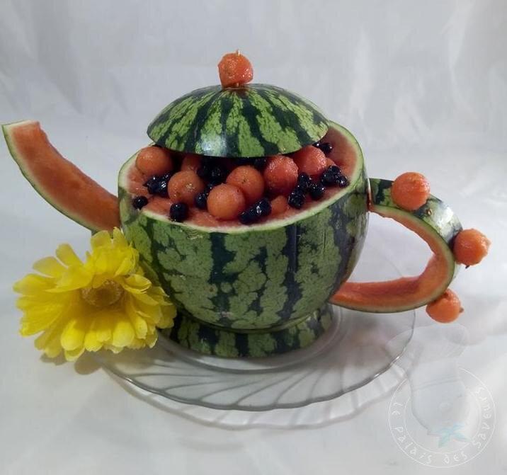 Cafetière pastèque