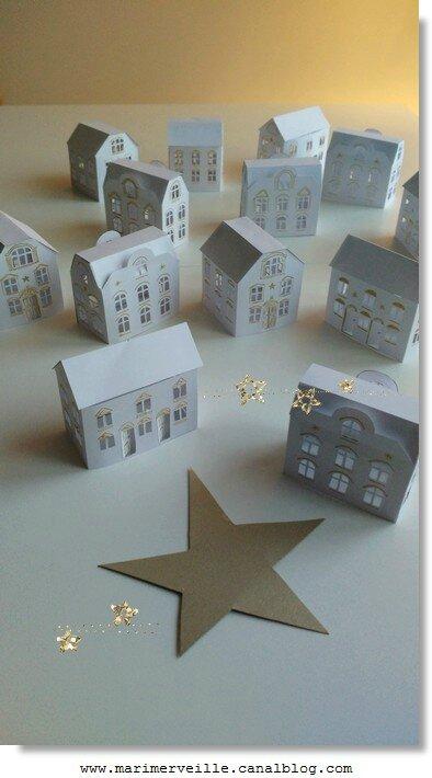 Petit village de Noël Marimerveille