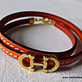 Bracelet Cavalière double (orange) - 24 €