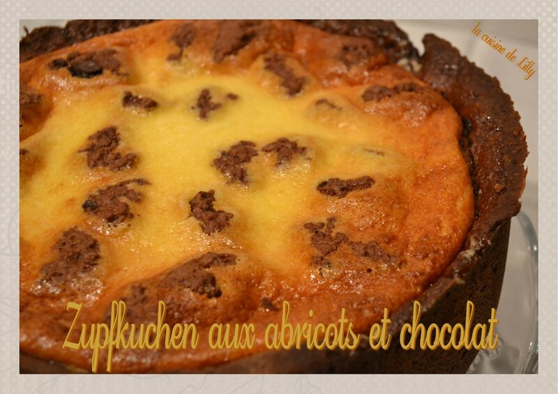 zupfkuchen abricot chocolat