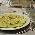 Duo de carpaccio st jacques et avocat