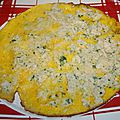 Omelette au crabe