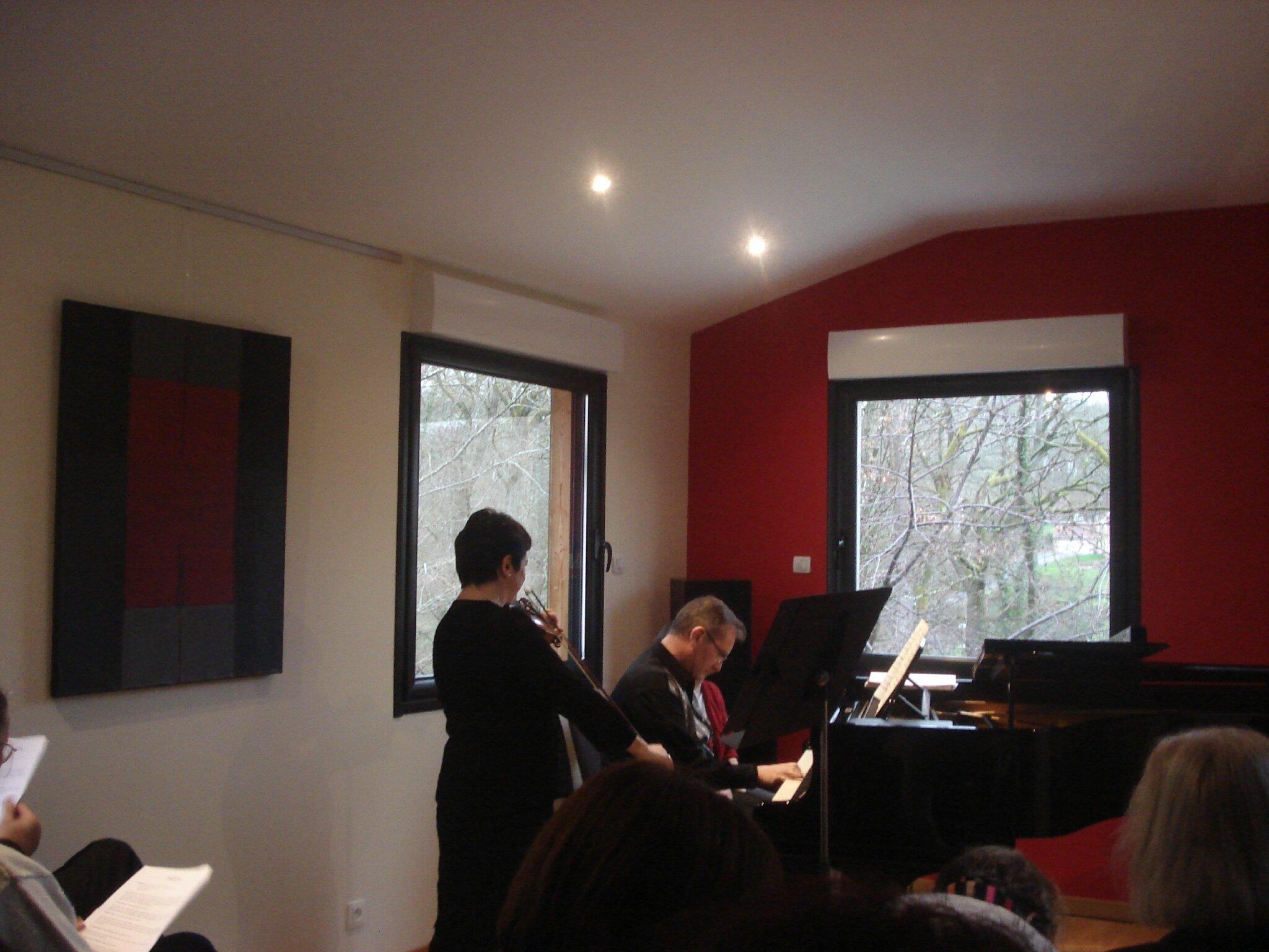 Piano-Violon et Fronton avec le Duo Lesage