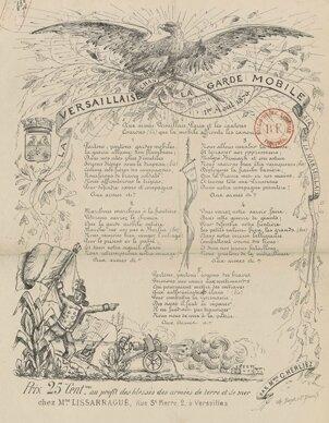 La Versaillaise - Chanson de la Garde Mobile - (c) Gallica