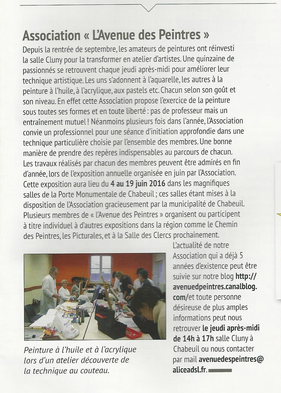article chabeuil mars 2016