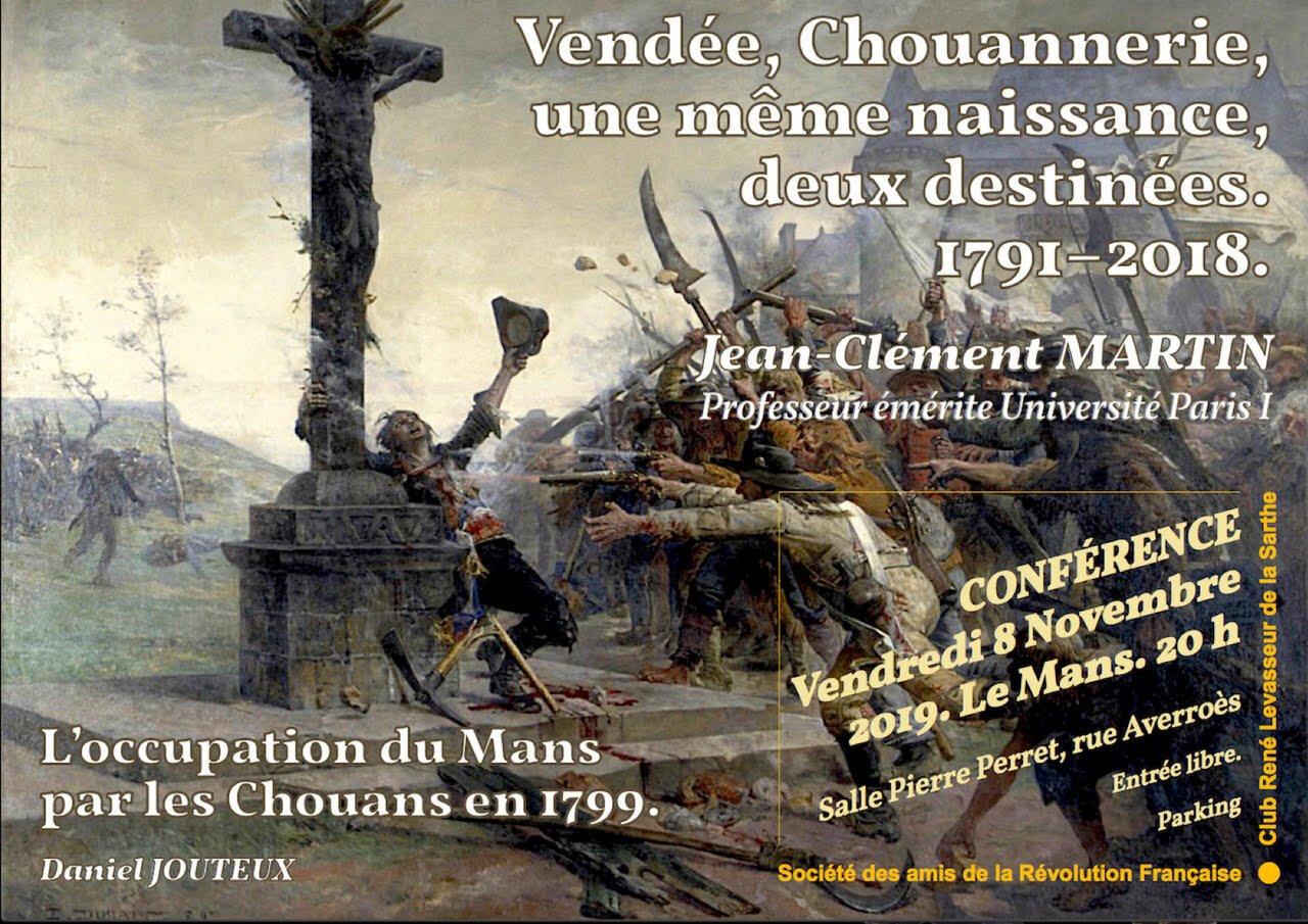 Le Mans, conférence Vendée et chouannerie.