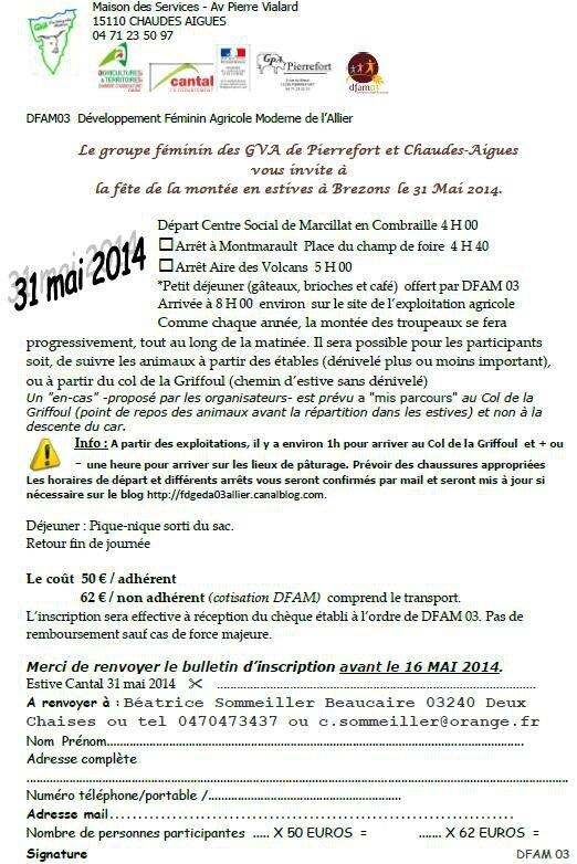l'estive 31 mai 2014 dfam 03 Cantal