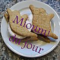 S'mores et biscuits graham version halloween