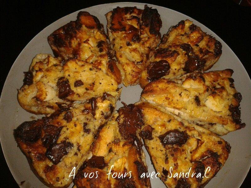 Gâteaux de pain dur pomme chocolat