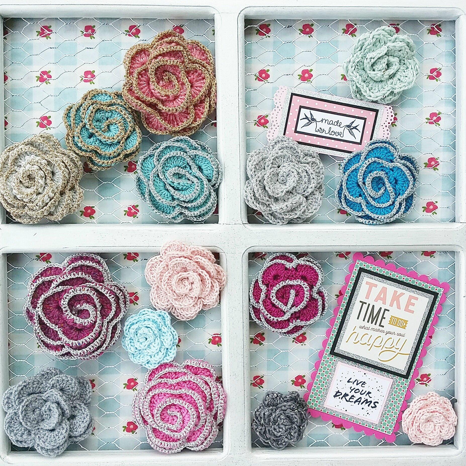 vanillejoile fleurs crochet