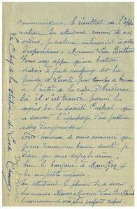 Courrier de Daniel Thomas a Léon Berthaut 3