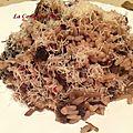 Risotto aux champignons,courgettes et tomates
