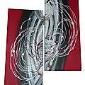 Assemblage rouge et noir - 76x52cm