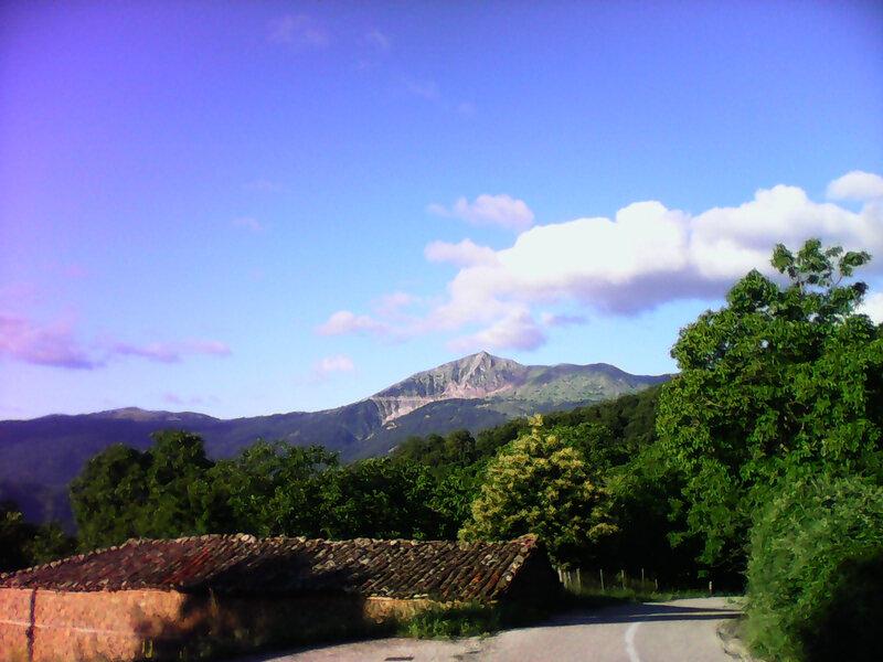 montagne carpenici le matin